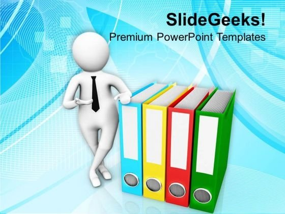 Put Data In Safe Files PowerPoint Templates Ppt Backgrounds For Slides 0813