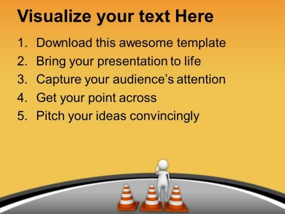 Put Right Safety Tracks For Traffic Diversion Powerpoint Templates