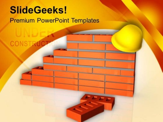 Put Security On Construction Site PowerPoint Templates Ppt Backgrounds For Slides 0713