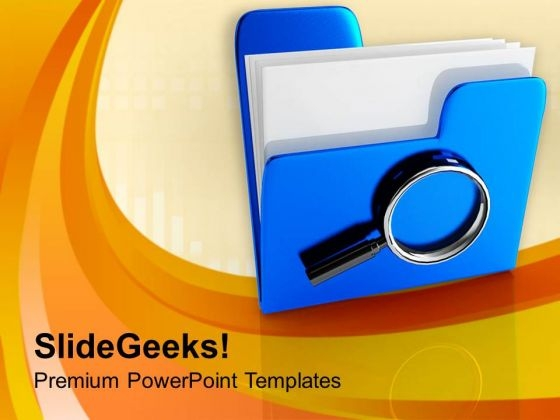 Put Some Data In Safety PowerPoint Templates Ppt Backgrounds For Slides 0713