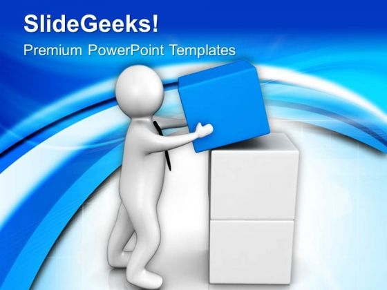 Put The Right Block On Place PowerPoint Templates Ppt Backgrounds For Slides 0713