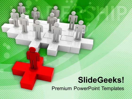 Put The Right Way Of Leadership PowerPoint Templates Ppt Backgrounds For Slides 0713