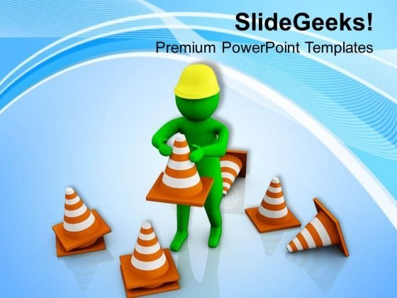 Put The Right Way Of Protection PowerPoint Templates Ppt Backgrounds For Slides 0713