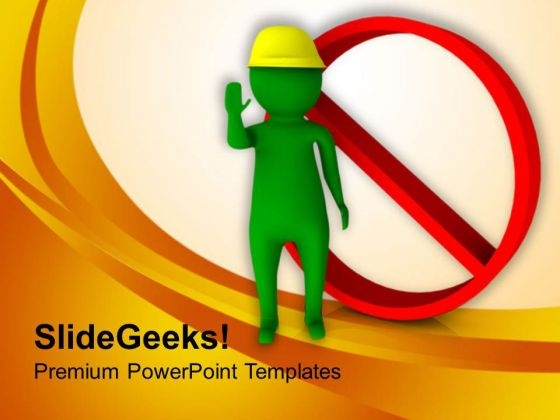 Put Warnings For Threats PowerPoint Templates Ppt Backgrounds For Slides 0713
