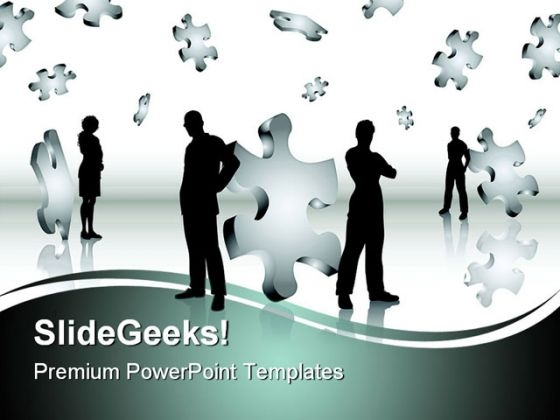 Puzzle Business PowerPoint Template 0910