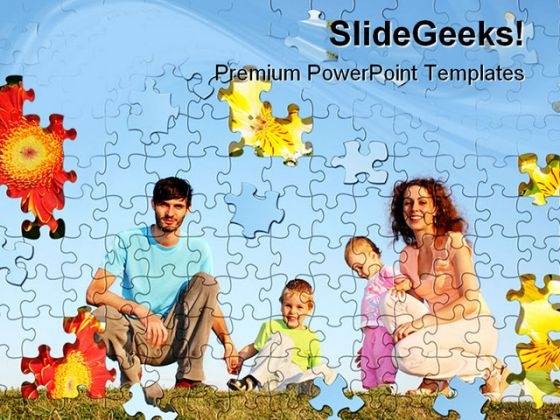 Puzzle Collage Family PowerPoint Themes And PowerPoint Slides 0511