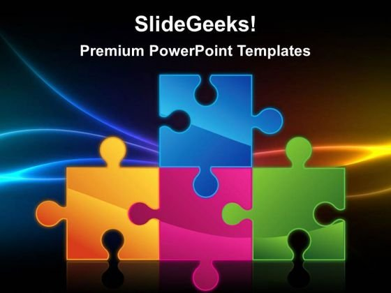 Puzzle Communication PowerPoint Templates And PowerPoint Themes 0212