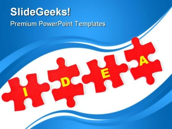 Puzzle Idea Business PowerPoint Templates And PowerPoint Backgrounds 0811