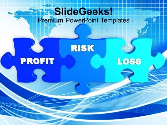 Puzzle Image With Words Profit Risk Loss PowerPoint Templates Ppt Backgrounds For Slides 0213