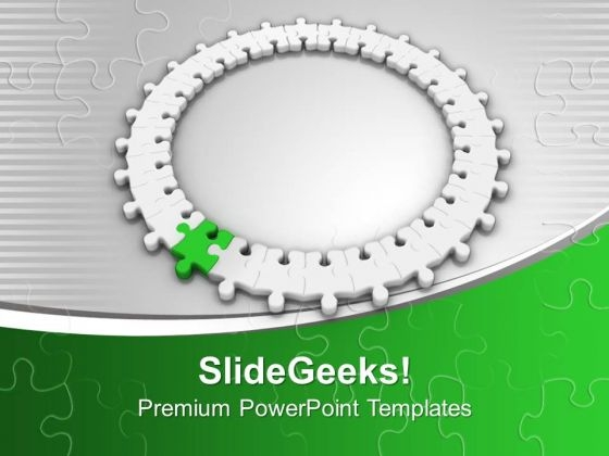 Puzzle Jigsaw Making Ring Teamwork PowerPoint Templates Ppt Backgrounds For Slides 0213
