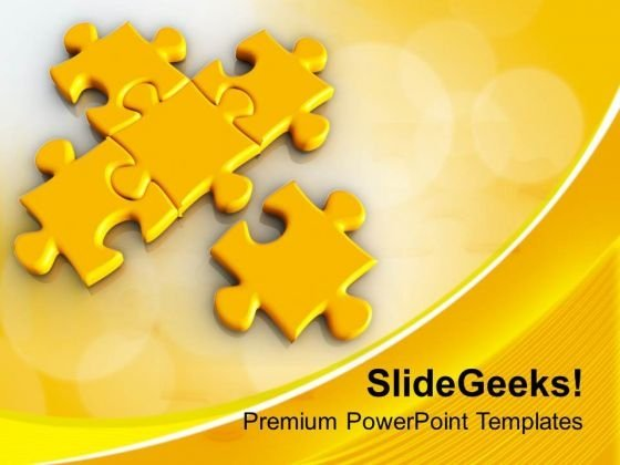 Puzzle Joining Team Team Work Unity PowerPoint Templates Ppt Backgrounds For Slides 0213