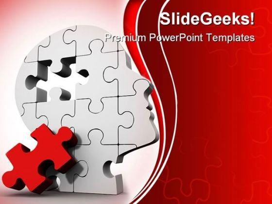 Puzzle Mind Business PowerPoint Backgrounds And Templates 0111