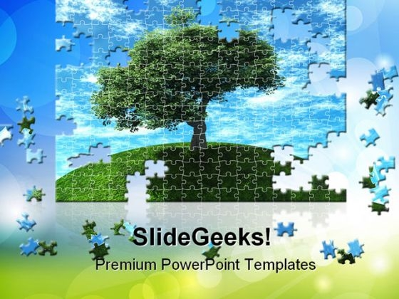 Puzzle Nature PowerPoint Templates And PowerPoint Backgrounds 0811