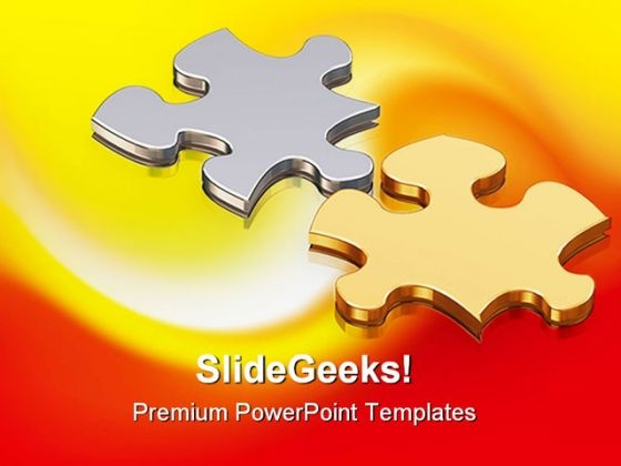 Puzzle Pieces Business PowerPoint Templates And PowerPoint Backgrounds 0811
