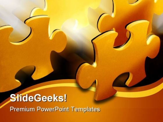 Puzzle Shapes PowerPoint Template 0810