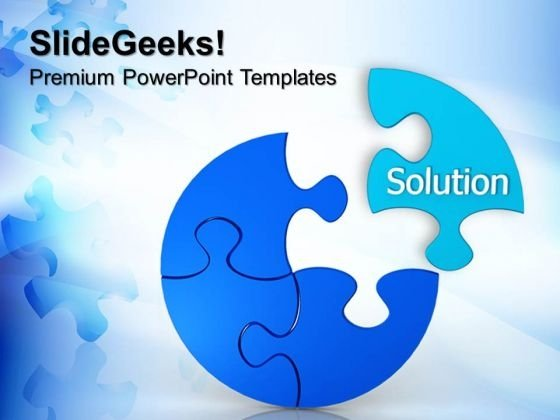 Puzzle Solution Business PowerPoint Templates And PowerPoint Themes 0612