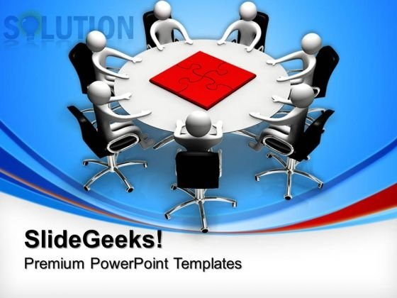 Puzzle Solution Meeting Business PowerPoint Templates And PowerPoint Themes 0612