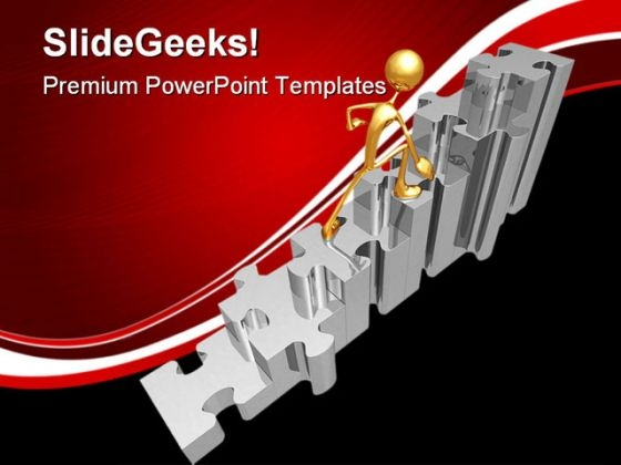 Puzzle Stairs Business PowerPoint Templates And PowerPoint Backgrounds 0511