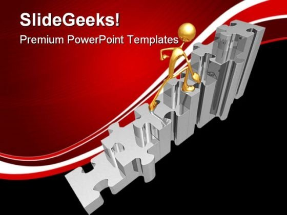 Puzzle Stairs Business PowerPoint Themes And PowerPoint Slides 0511