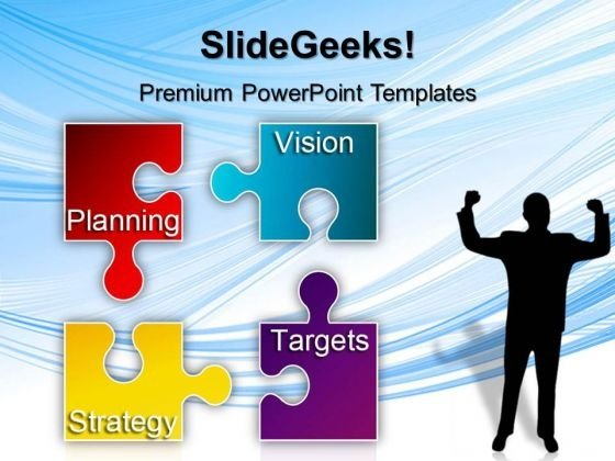 Puzzle Strategy Planning Business PowerPoint Templates And PowerPoint Themes 0512
