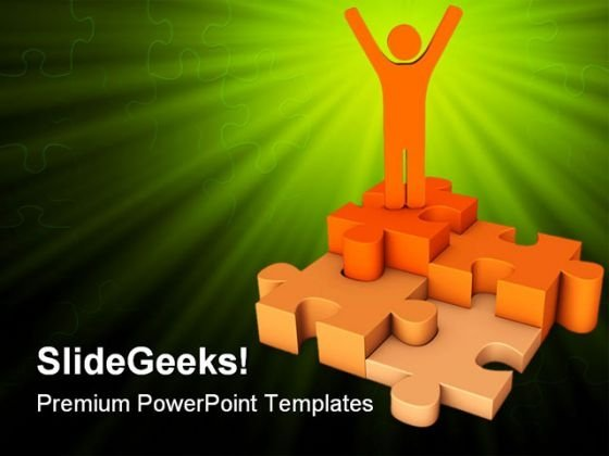Puzzle Success PowerPoint Themes And PowerPoint Slides 0711