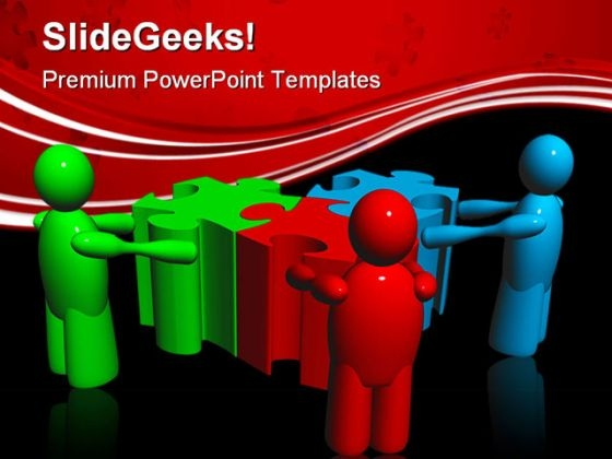 Puzzle Team01 People PowerPoint Templates And PowerPoint Backgrounds 0511