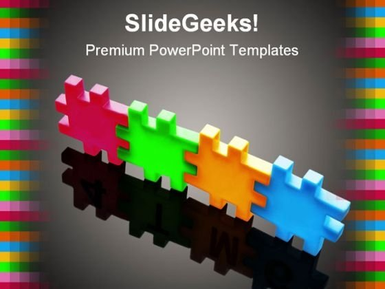 Puzzle Team Business Teamwork PowerPoint Template 1110