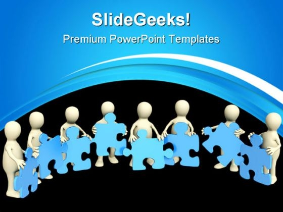 Puzzle Team People PowerPoint Themes And PowerPoint Slides 0511