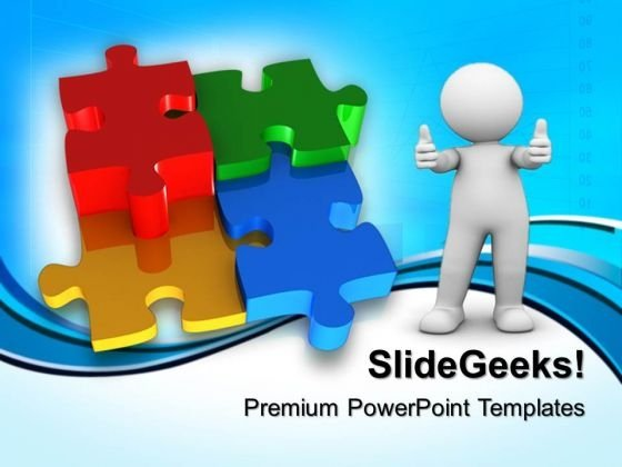 Puzzle Teamwork Business PowerPoint Templates And PowerPoint Themes 0712