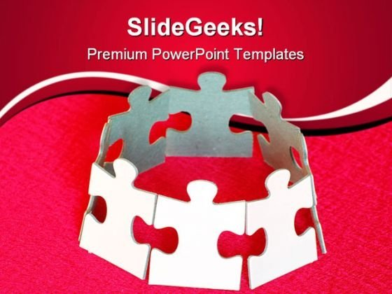 Puzzle Unity Leadership PowerPoint Themes And PowerPoint Slides 0811
