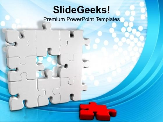 Puzzle wall with missing one strategy business powerpoint puzzlewallwithmissingonestrategybusinesspowerpointtemplatespptbackgroundsforslides1212title toneelgroepblik Images