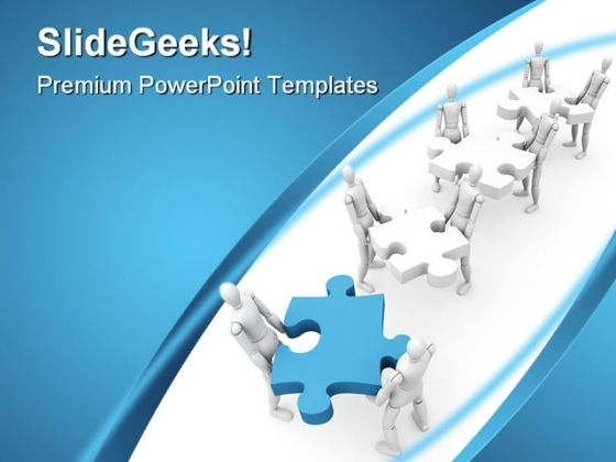 Puzzle With Teamwork Business PowerPoint Templates And PowerPoint Backgrounds 0811