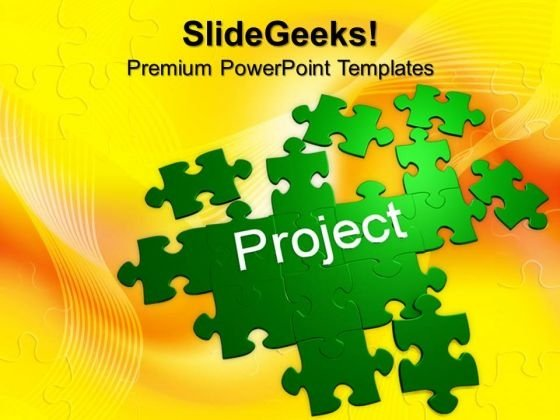 Puzzle With The Word Project Choice Business PowerPoint Templates And PowerPoint Themes 1012
