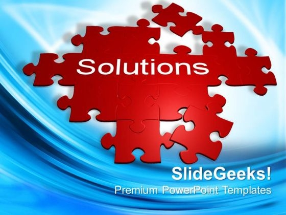 Puzzle With The Word Solutions Choice PowerPoint Templates And PowerPoint Themes 0912