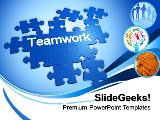 Puzzle With The Word Teamwork PowerPoint Templates And PowerPoint Themes 0812