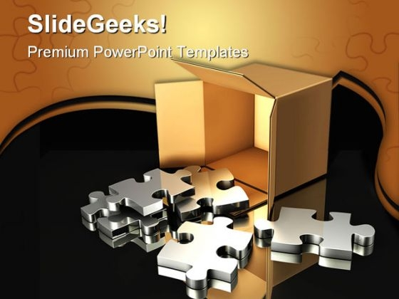 Puzzles Box Business PowerPoint Templates And PowerPoint Backgrounds 0411