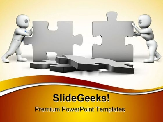 Puzzles Building Business PowerPoint Templates And PowerPoint Backgrounds 0411