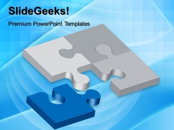 Puzzles Connected Communication PowerPoint Templates And PowerPoint Themes 0512