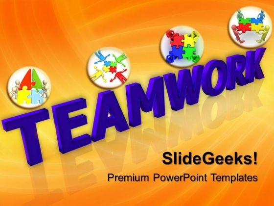 Puzzles Teamwork PowerPoint Templates And PowerPoint Themes 0512
