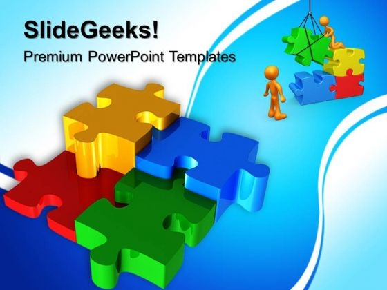 Puzzles Teamwork PowerPoint Templates And PowerPoint Themes 0612