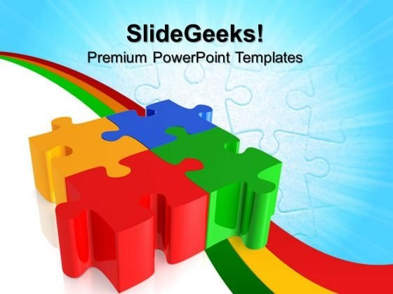 Puzzles Teamwork PowerPoint Templates And PowerPoint Themes 0712