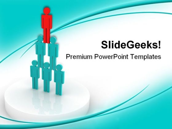 Pyramid Leadership PowerPoint Themes And PowerPoint Slides 0511