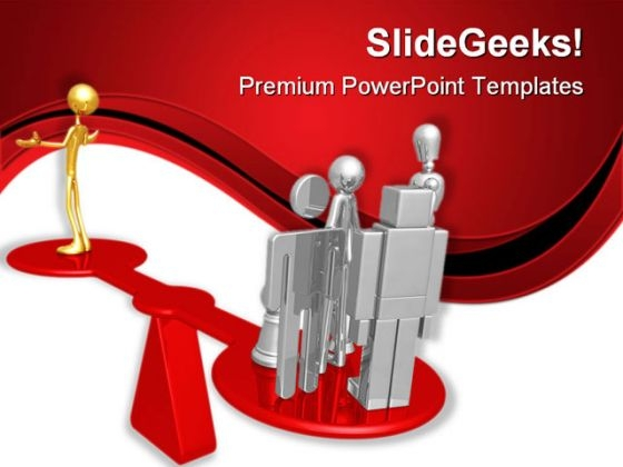 Quality Scale Leadership PowerPoint Templates And PowerPoint Backgrounds 0811