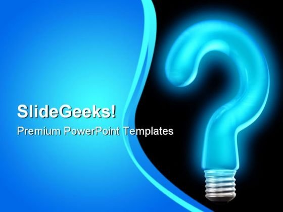 Query Bulb Business PowerPoint Templates And PowerPoint Backgrounds 0811