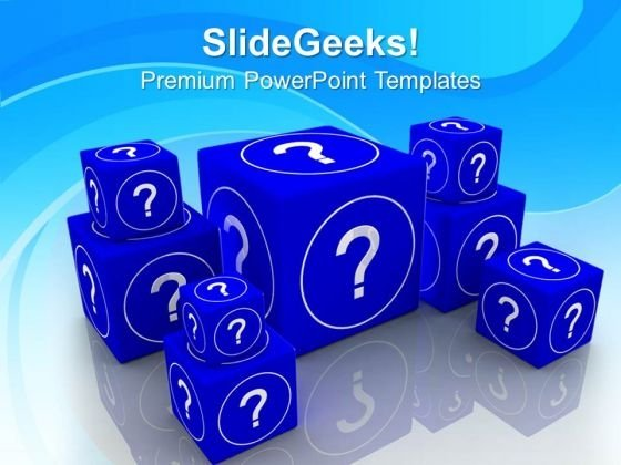 Question And Guessing Concept Business PowerPoint Templates Ppt Backgrounds For Slides 0113