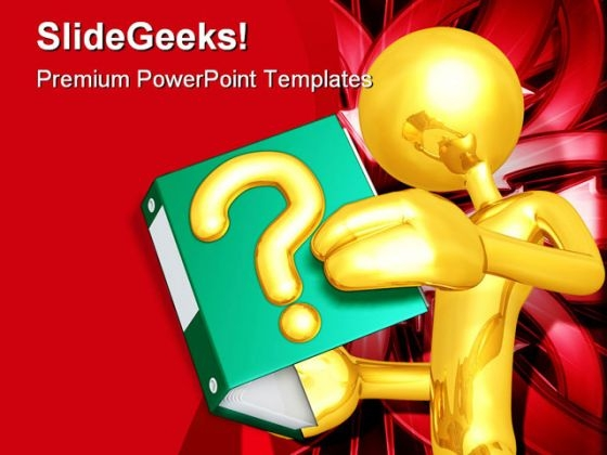 Question Book Concept Business PowerPoint Templates And PowerPoint Backgrounds 0611