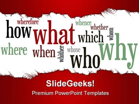 Question Business PowerPoint Backgrounds And Templates 1210