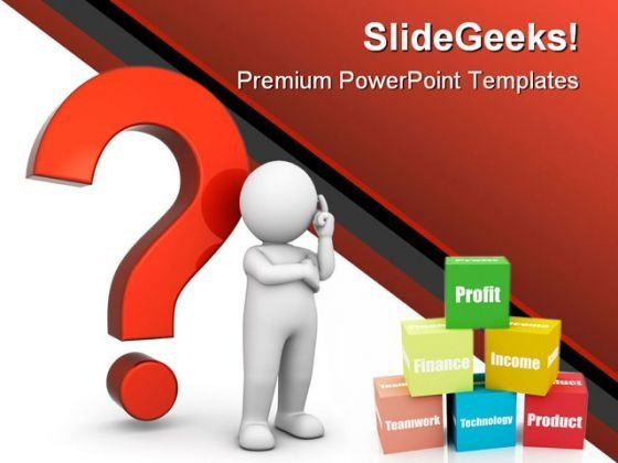 Question Business PowerPoint Template 0510