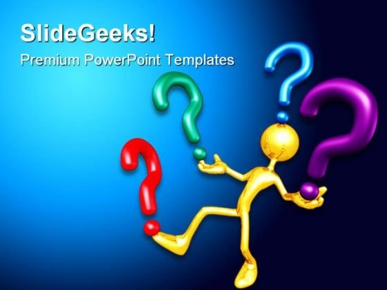 Question Future PowerPoint Template 1010