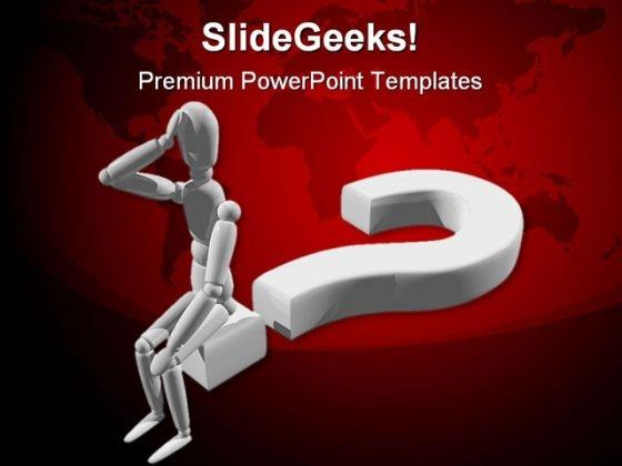 Question Man Business PowerPoint Template 1110